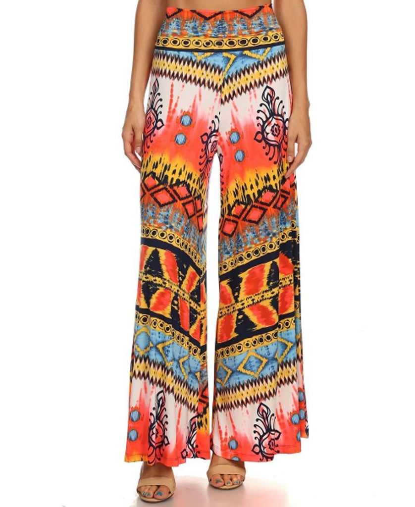 Foldover Palazzo Pants New Hilographics Coral