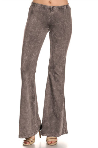 Bell Bottoms Yoga Pants Denim Colored Taupe Gray