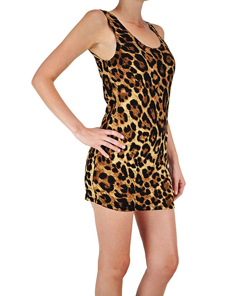 Short Leopard Club Mini Dress