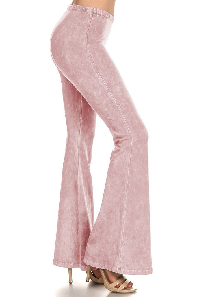 Bell Bottoms Denim Colored Yoga Pants Light Pink