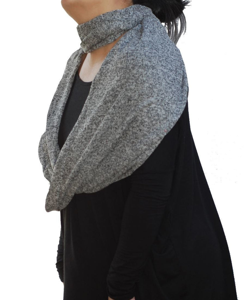 Fashion Scarf Infinity Shawl Heather Gray One Size