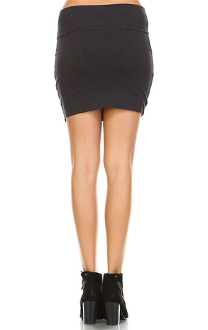 Bodycon Skirt Mini Charcoal