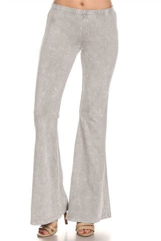 Bell Bottoms Yoga Pants Denim Colored Stone