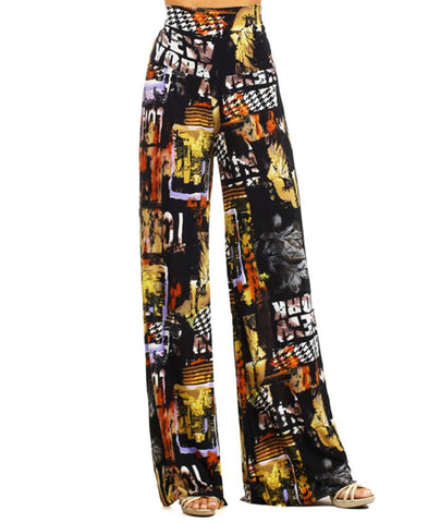 Foldover Palazzo Pants New York New York Yellow