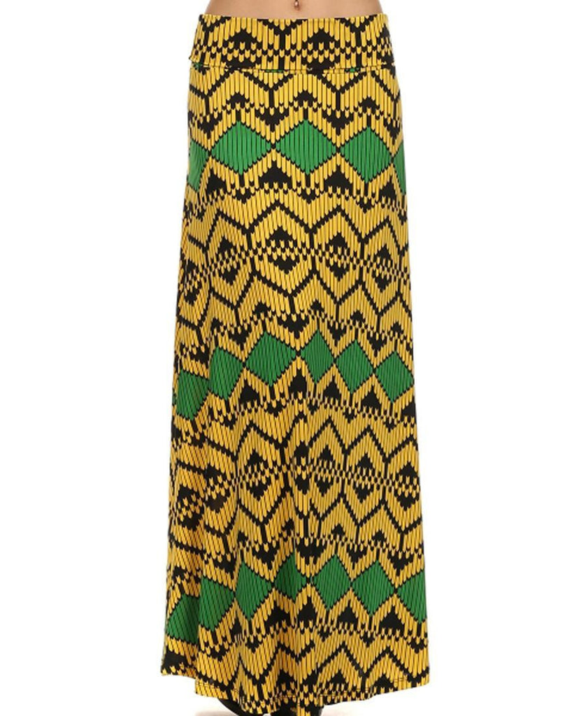 Maxi Skirt Bee Yellow Green