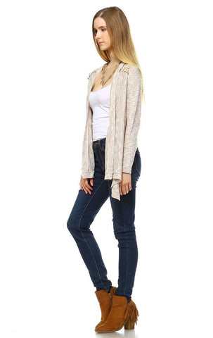 Lace Cardigans Crochet and Knit Taupe
