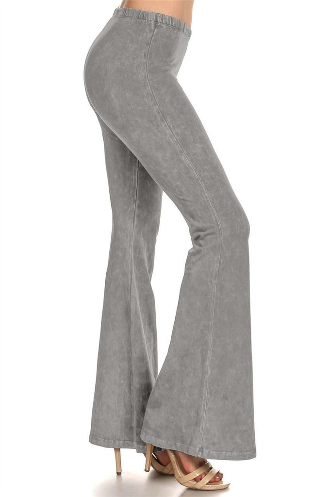 Bell Bottoms Denim Colored Yoga Pants Light Gray