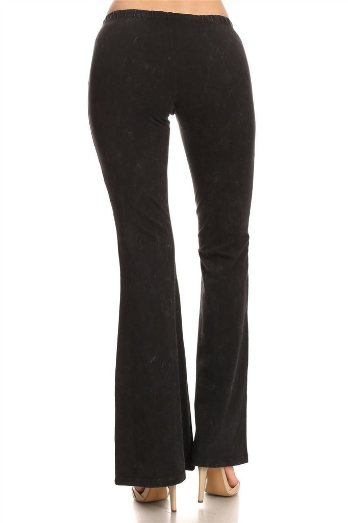 Bell Bottoms Yoga Pants Denim Colored Black