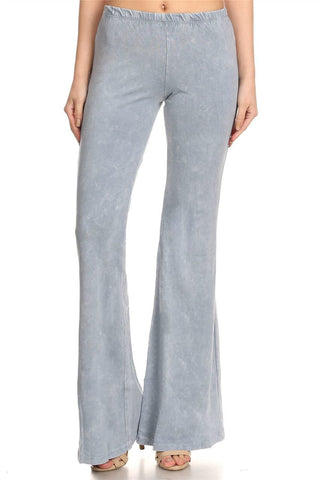 Bell Bottoms Yoga Pants Denim Colored Fog Blue