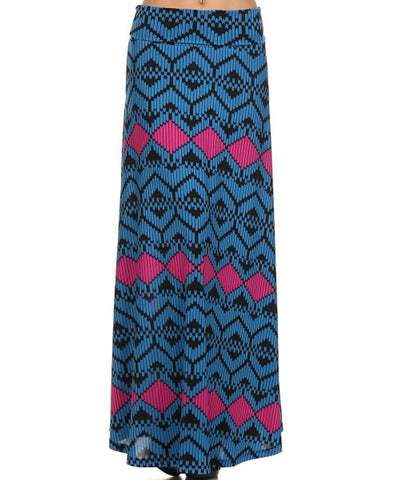 Maxi Skirt Bee Blue Pink