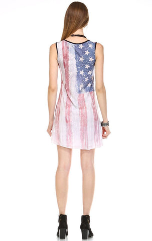 Tank Dress Ringer Sublimation American Flag