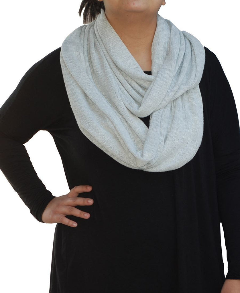 Fashion Scarf Infinity Shawl Heather Light Gray One Size