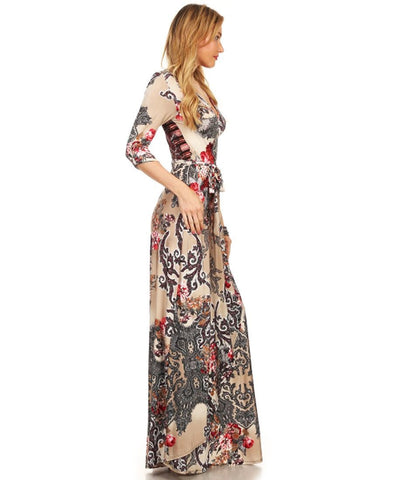 Maxi Dress with Sleeves Bombshell Red One