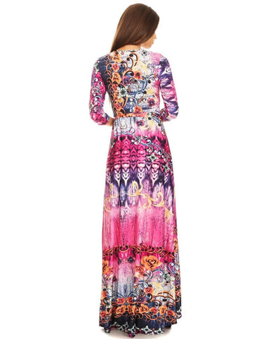Maxi Dress with Sleeves Jlos Pink Two