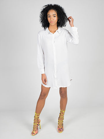 Oversized White Button Up Shirt - Neue Amour