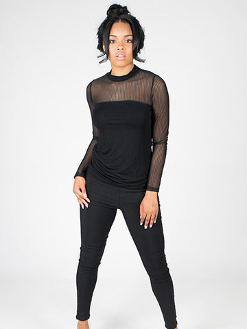 Sheer Me Top Mesh Blouse - Neue Amour