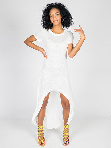 White T-Shirt Dress - Neue Amour