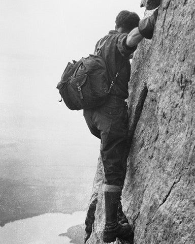 Climber Albert Ellingwood on Mt. Moran