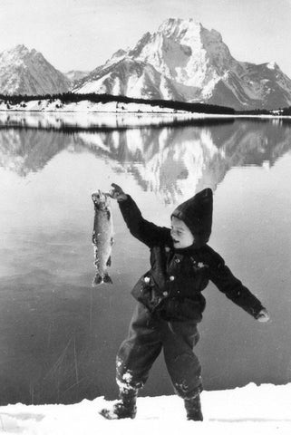 Boy Fishing at Jackson Lake