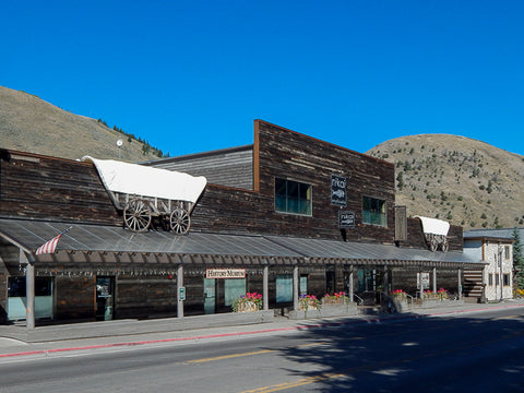 Jackson Hole Historical Society and Museum on Cache Street in Jackson, Wyoming