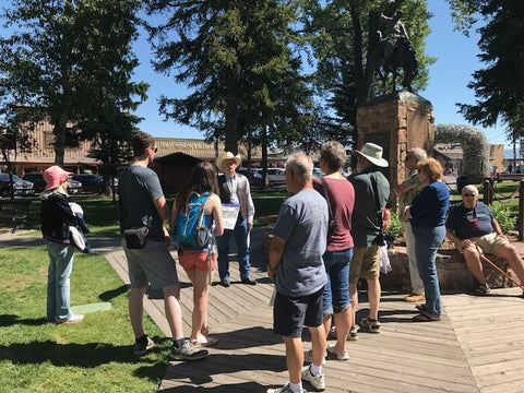 Historic Jackson Hole walking tour on the Town Square