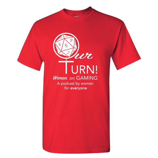 Our Turn! Red Logo TALL - Analog Gamer