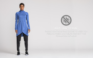 Anti-bacterial modest sportswear
