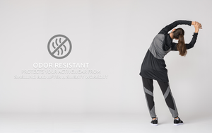 Odour resistant modest workout gear