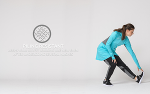 Piling resistant modest fitness wear