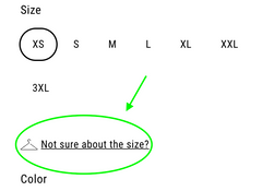 find your size chart
