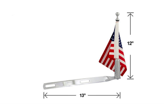 P/N 2025-1 Single Billet Flag Pole For 6