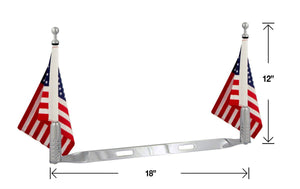 "P/N 2025-2 Double Billet Flag Pole for 6""x 9"" flag"