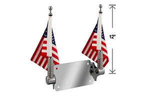 "P/N 2026-2 Double Billet Flag Pole for 6""x 9"" flag"