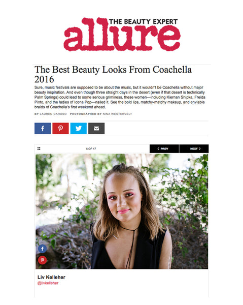 Allure features label.m as a key to some of Coachella's best looks