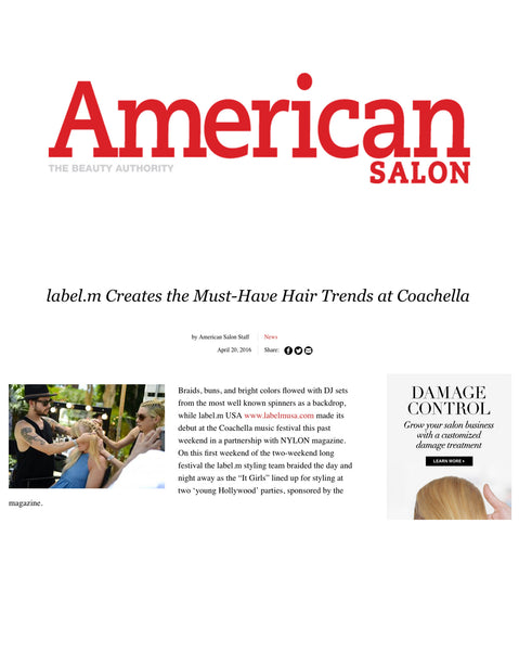 American Salon calls Label.m a