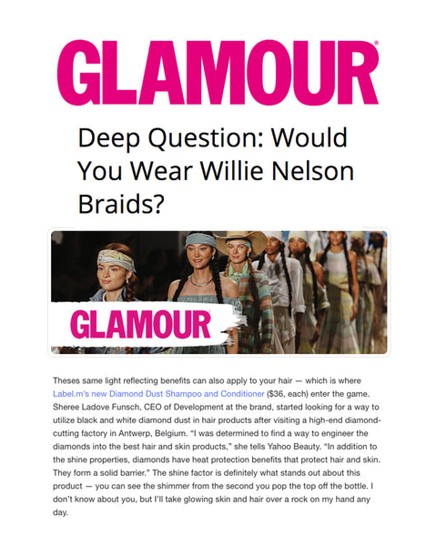Glamour Features Label.m and this season's hottest hairstyles