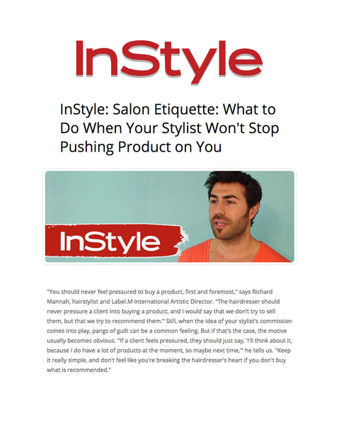 InStyle Features Label.m and Dishes out the Scoop on Salon Etiquette