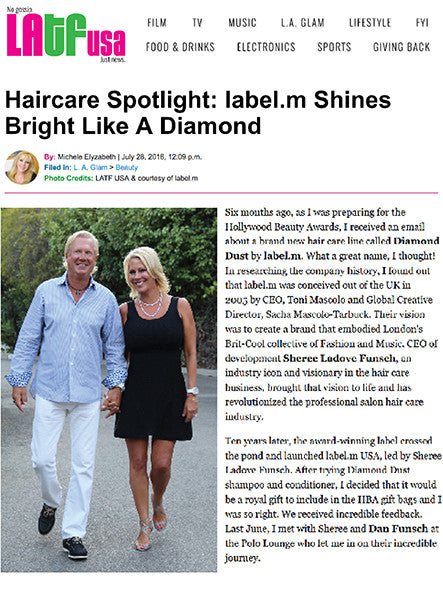 Haircare Spotlight on Sheree Ladove-Funch and label.m Diamond Dust Collection On LATF