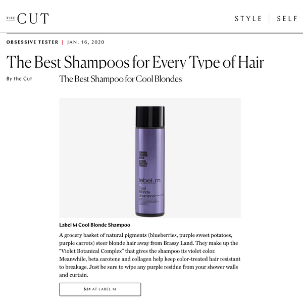 Cool Blonde named Best Shampoo by THE CUT