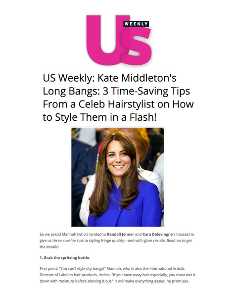 Quick bangs fit for a Royal by Label.m, Featured in US Weekly