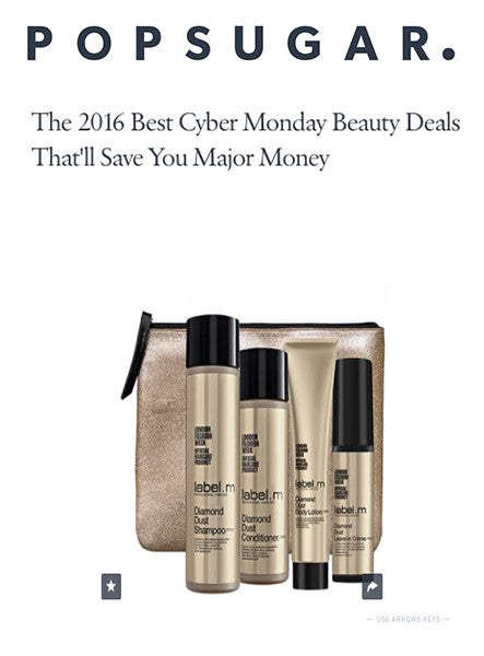 POPSUGAR names label.m among best For Cyber Monday Beauty