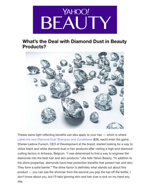 Yahoo! Beauty sets the story straight about Label.m Diamond Dust products