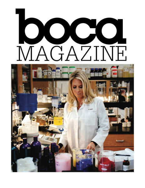 label.m USA CEO of Product Development, Sheree LaDove Funsch, Featured by Boca Magazine