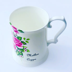 Mother Cuppa 3/4 pint tankard in fine bone china