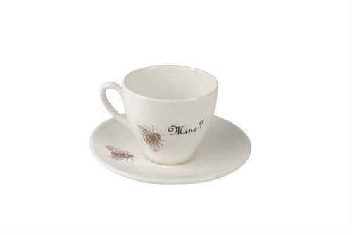 Bee Mine Tea Cup & Saucer in Gold Lustre