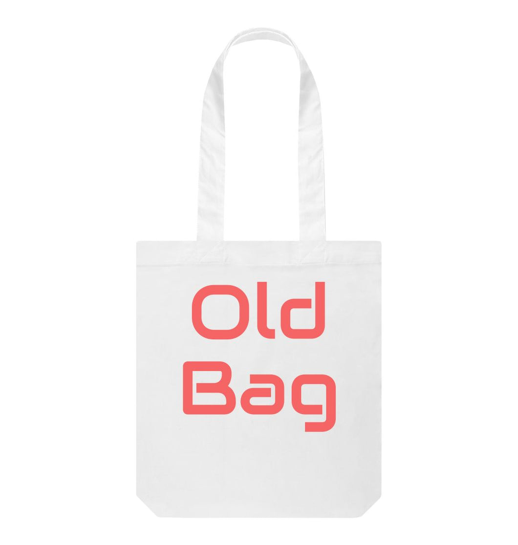 White Old Bag Bag with red witing