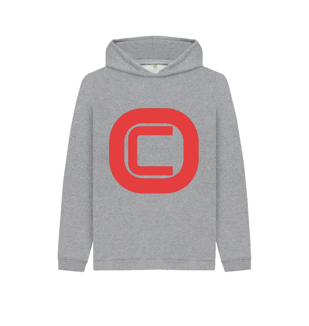 Athletic Grey Kids Outlandish Creations Red Logo Hoodie