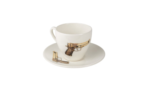 Golden Gun Tea Cup & Saucer