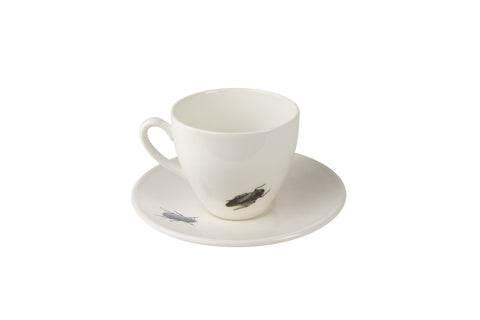 Green Beetle Tea Cup & Saucer