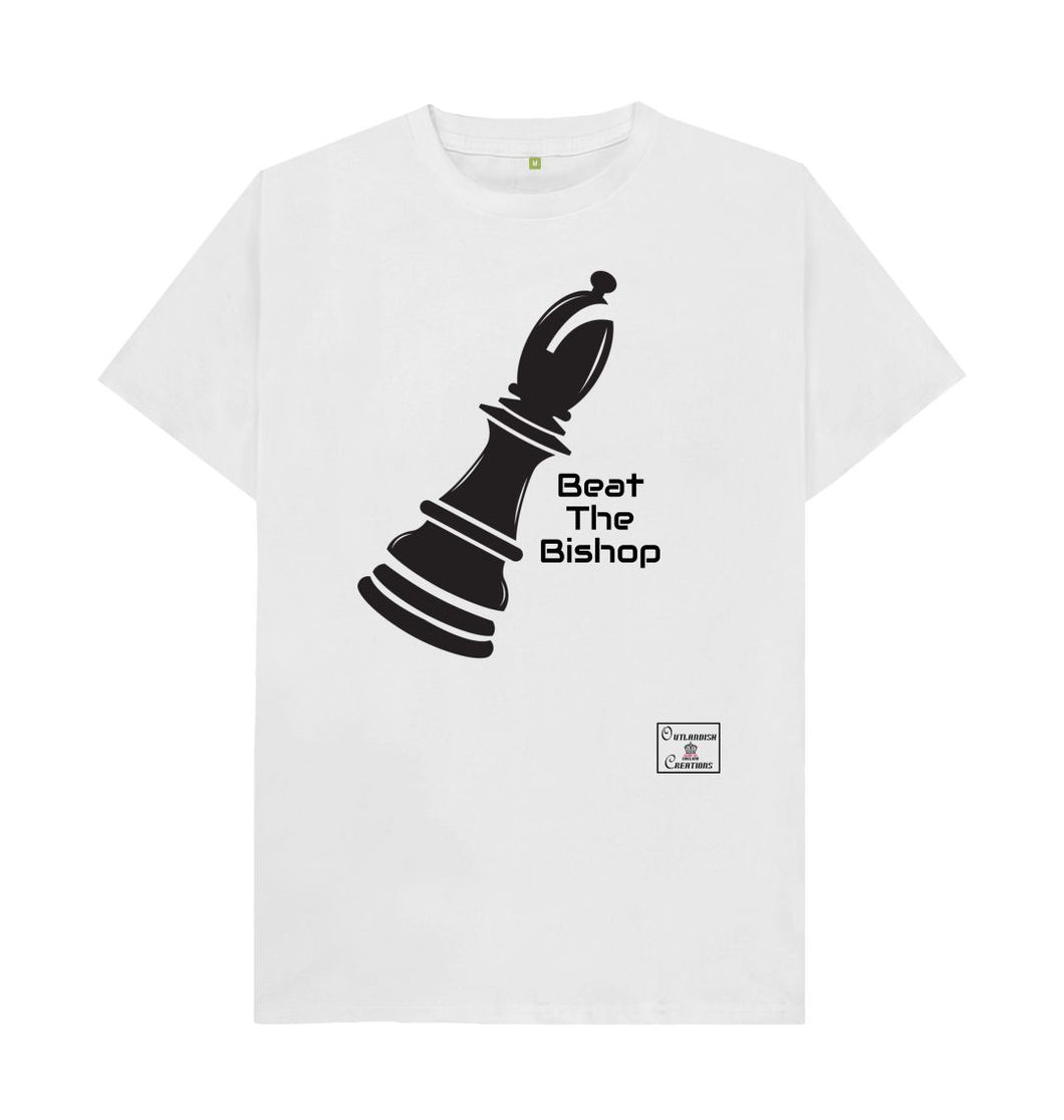 White Mens Beat the Bishop T-shirt
